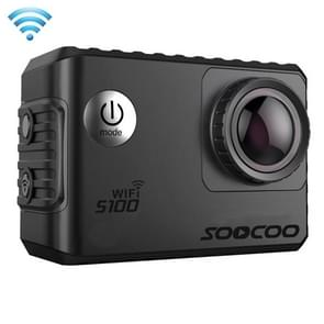 SOOCOO S100 2.0 inch scherm 4 K 170 graden breed hoek WiFi Sport actie Camera Camcorder ontmoet huisvesting Waterdicht hoesje  ondersteuning van 64 GB Micro SD kaart & Diving modus & stem Prompt & Anti-Shake & HDMI Output(zwart)