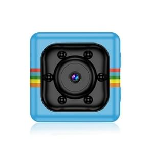 SQ11 Mini DV HD 1080P 2MP Sport Recorder Camera with Holder  Support Monitor Detection & IR Night Vision & TF Card(Blue)