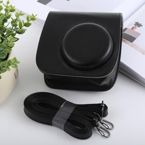 Retro Style Full Body Camera PU Leather Case Bag with Strap for FUJIFILM instax mini 9 / mini 8+ / mini 8(Black)
