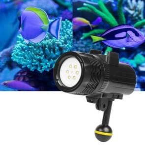 1500 Lumens 60m Underwater Diving LED Torch Light Bright Video Lamp for GoPro HERO7 /6 /5 /5 Session /4 Session /4 /3+ /3 /2 /1  Xiaoyi and Other Action Cameras(Black)