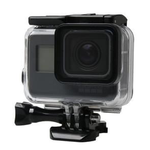 Voor GoPro  HERO 6 /5 zwart scherm van de aanraking 60 m onderwater Waterdicht huisvesting duiken beschermings hoesje met Buckle Basic Mount & schroeven  niet nood voor naar de Lens demonteren