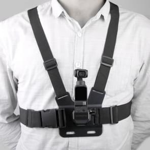 Sunnylife OP-Q9201 elastisch verstelbare lichaam borst bandjes riem met metalen Adapter voor DJI OSMO Pocket