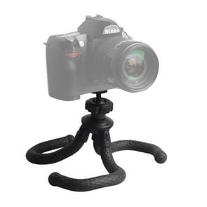 V-R1 Mini Octopus Flexible Tripod Holder with Ball Head for SLR Cameras  GoPro  Xiaoyi and Other Action Cameras (Black)
