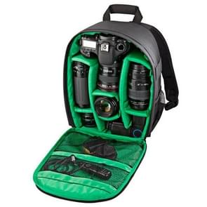 DL-B027 Portable Waterproof Scratch-proof Outdoor Sports Backpack SLR Camera Bag Phone Bag for GoPro  SJCAM  Nikon  Canon  Xiaomi Xiaoyi YI  iPad  Apple  Samsung  Huawei  Size: 27.5 * 12.5 * 34 cm(Green)