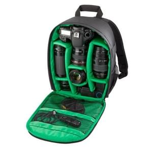 DL-B028 Portable Casual Style Waterproof Scratch-proof Outdoor Sports Backpack SLR Camera Bag Phone Bag for GoPro  SJCAM  Nikon  Canon  Xiaomi Xiaoyi YI  iPad  Apple  Samsung  Huawei  Size: 27.5 * 12.5 * 34 cm(Green)
