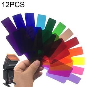 12 PCS SiGi SG120 12-kleuren filterset camera top flash accessoires temperatuurfilter