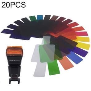 20 PCS / Stel SiGi SG200 20-kleuren filterset camera top flash accessoires temperatuurfilter