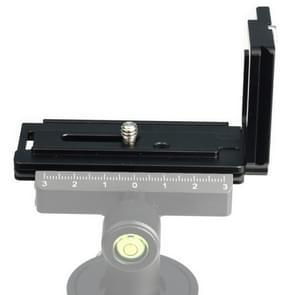 1/4 inch verticale shoot Quick release L plaat beugel Basishouder voor Sony A6300 (zwart)