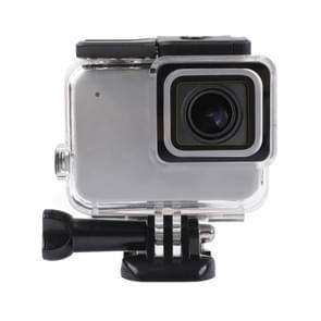 Voor GoPro HERO7 wit/Silver skelet behuizing zijkant holle beschermhoes met gesp Basic Mount & schroef (transparant)