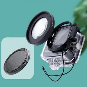 RUIGPRO voor GoPro HERO8 Professional 58mm 16X Macro Lens Dive Housing Filter met filteradapterring & lensdop
