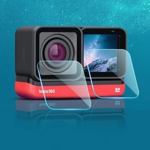Lens + LCD-scherm Gehard glas film voor Insta 360 One R 4K (Transparant)