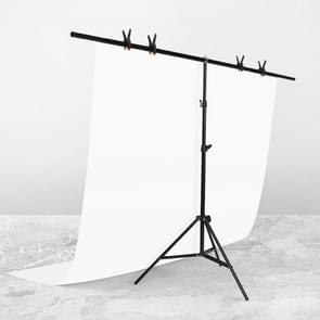 200x200cm T-Vorm FotoStudio Achtergrond Ondersteuning Steun Steun Achtergrond Crossbar Bracket Kit met clips