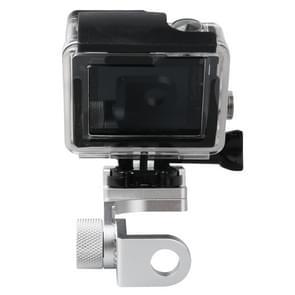 Motorfiets vaste stent houder achteruitkijk spiegel van CNC Aluminum Alloy voor HERO 4/5 SESSION / (2018) 7 / 6 / 5 / 4 / 3+ / 3 / 2 / 1, Xiaomi Xiaoyi, SJCAM Camera(zilver)