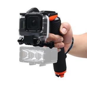 Sluitertijd Trigger + drijvende Hand Grip duiken drijfvermogen Stick met verstelbare anti-verloren riem & schroeven & moersleutel voor GoPro HERO 5 zwart