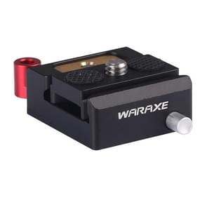 WARAXE 1632 Lock Knob Safety Slot Standard Adapter Clamp + Quick Release Plate(Black)