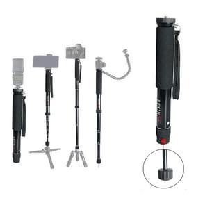 BEXIN P308 Portable Travel Outdoor DSLR Camera Aluminium Alloy Monopod Holder (Zwart)