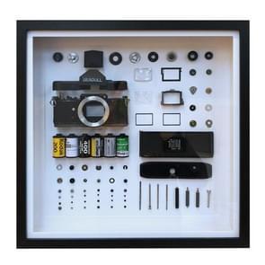 Niet-werkende display 3D mechanische film camera vierkante foto frame montage demonteren specimen frame  model: stijl 2  willekeurige camera model levering