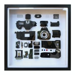 Niet-werkende display 3D mechanische film camera vierkante foto frame montage demonteren specimen frame  model: stijl 3  willekeurige camera model levering