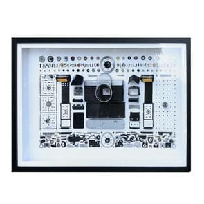 Niet-werkende display 3D mechanische film camera rechthoek foto frame montage demonteren specimen frame  model: stijl 8  willekeurige camera model levering