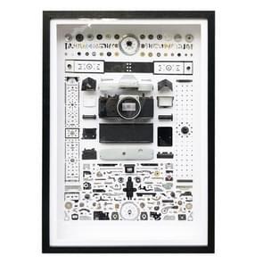 Niet-werkende display 3D mechanische film camera rechthoek foto frame montage demonteren specimen frame  model: stijl 9  willekeurige camera model levering