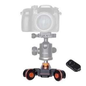 YELANGU L4X Camera wiel Dolly II elektrische bijhouden van schuif 3-wiel Video katrol rollen Dolly auto met afstandsbediening voor DSLR / Home DV-camera's  GoPro  Smartphones  Max belasting: 3kg