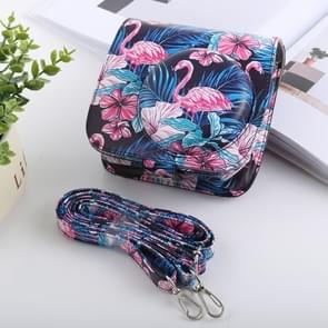 Flamingo Pattern Full Body Camera PU Leather Case Bag with Strap for FUJIFILM instax mini 9 / mini 8+ / mini 8