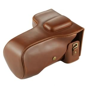 Full Body Camera PU Leather Case Bag for Nikon D7200 / D7100 / D7000 (18-200 / 18-140mm Lens) (Brown)