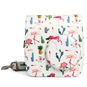 Flamingo Cactus patroon PU leder beschermende Case cameratas voor FUJIFILM Instax Mini 7S / 7C Camera