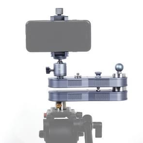 ADAI Mini uitschuifbaar Rail Track Dolly Slider  wassen en lineaire bewegingen tot 4 x afstand (52 cm)  Max belasting: 1.5kg(Silver)