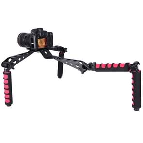 YELANGU D6-2 Rig I Multifunctional Handles Camera Shoulder Mount for DSLR Camera / Video Camera(Red)