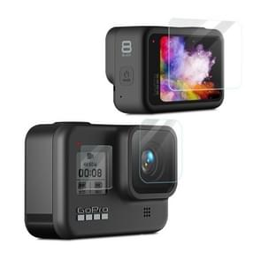 Voor GoPro HERO8 Black camera lens HD beschermende film + LCD display HD Screen Protector