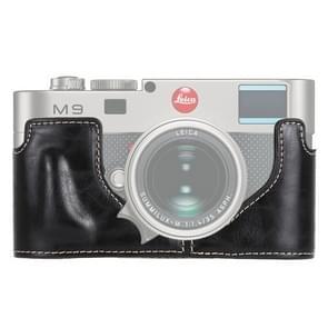 1/4 inch draad PU leder Camera Half Case Base voor Leica M9 (zwart)