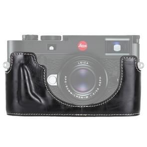 1/4 inch draad PU leder Camera Half Case Base voor Leica M10 (zwart)