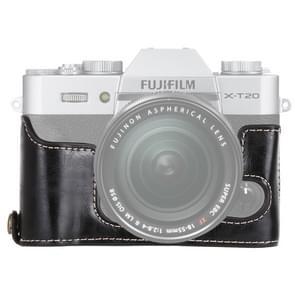 1/4 inch draad PU leder Camera Half Case Base voor FUJIFILM X-T10 / X-T20 (zwart)