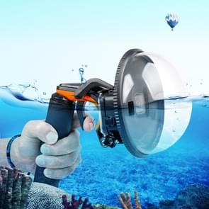 Shutter Trigger + Dome Port Lens Transparent Cover + Floating Hand Grip Diving Buoyancy Stick with Adjustable Anti-lost Strap & Screw & Wrench for GoPro  NEW HERO /HERO6   /5