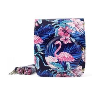 Flamingo patroon PU leder beschermende Case cameratas voor FUJIFILM Instax Mini90 Camera