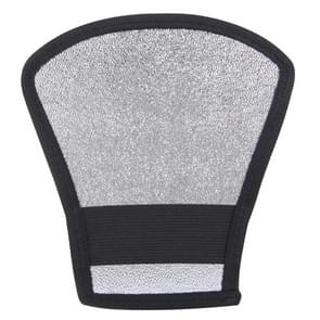 2 in 1 (Silver / White) Fan-shaped Folding Reflector Board  Size: 20.0 x 18.5 x 10.5 cm