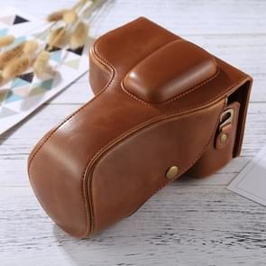 Full Body Camera PU Leather Case Bag for Nikon D3200 / D3300 / D3400 (18-55mm / 18-105mm Lens)(Brown)