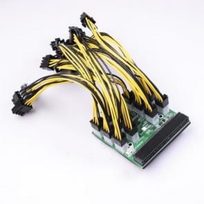 Voor HP 750W/1200W Server PSU Server Power Conversion 12-poorts 6-pins CHIPAL Power Module Branch Board met BTC Power Cord