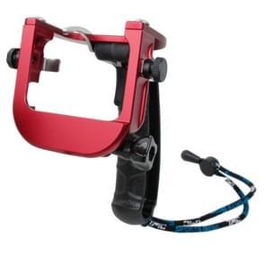 TMC P4 Trigger Handheld Grip CNC metalen Stick Monopod bevestiging voor GoPro HERO4 /3+(rood)