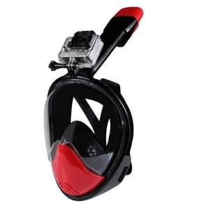 NEOPine Tweede generatie volwassenen en jeugd duik apparatuur volledig gezicht vrij ademend ontwerp duik masker voor HERO 4/5 SESSION / (2018) 7 / 6 / 5 / 4 / 3+ / 3 / 2 / 1 /1, L-formaat(zwart)