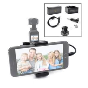 STARTRC ABS Handheld Mobiele Telefoon Clip Holder Uitbreiding Accessoires met 8 Pin Data Cable voor DJI OSMO Pocket