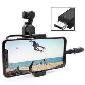 UITBREIDINGsaccessoires van DE HOUDER van de mobiele telefoon van STARTRC-metaalhouder met Android USB-gegevenskabel voor DJI OSMO Pocket
