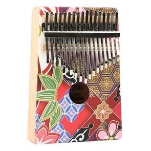 Duim piano Kalimba 17-Tone vinger piano beginners entry draagbaar muziek instrument Kalimba vinger piano (YC-06)
