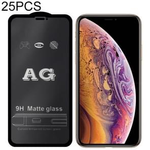 25 stuks AG matte Frosted volledige dekking gehard glas voor iPhone 8 plus & 7 plus