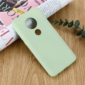 Effen kleur Liquid silicone schokbestendig volledige dekking Case voor Motorola Moto G7 Power (groen)