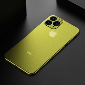 Voor iPhone 11 Pro Max ultradun Frosted PP geval (geel)