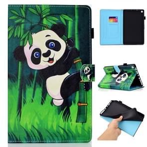 Voor Amazon Kindle Fire HD 8 Gekleurde tekenstiksels horizontale flip lederen behuizing  met Houder & Card Slots (Panda)