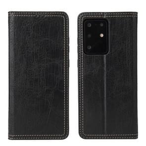 Voor Samsung Galaxy S20 Fierre Shann Retro Tree Bark Texture PU Magnetic Horizontal Flip Leather Case met Holder & Card Slots & Wallet(Zwart)