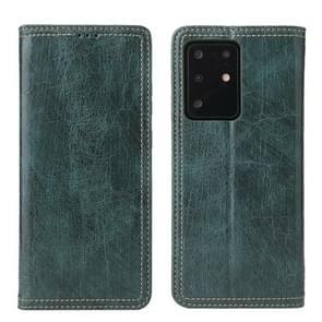 Voor Samsung Galaxy S20 Fierre Shann Retro Tree Bark Texture PU Magnetic Horizontal Flip Leather Case met Holder & Card Slots & Wallet(Groen)